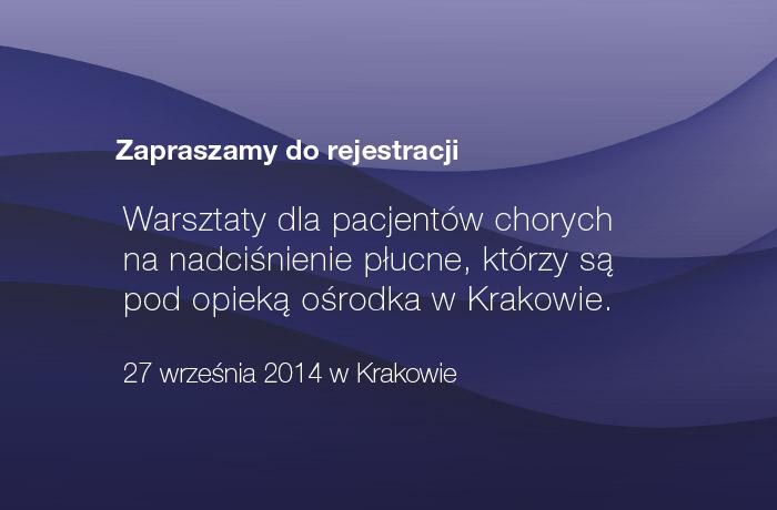 Warsztaty dla pacjentów, Kraków 27 września 2014